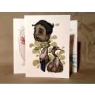 Carte de souhaits 7x5, Mon pote le héron, de l'artiste MC Baldassari,  7 x 5 pouces largeur, avec enveloppe  Vous pouvez inscrire votre message à l'intérieur.