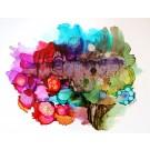 Mon univers à moi, de l'artiste Nancy Létourneau, Oeuvre sur papier Yupo, médium encre à l'alcool, Création unique, dimension 10 x 13 de largeur