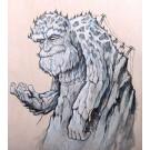 Mountain Man, tableau de l'artiste Félix Girard, Tableau, Acrylique et graphite sur bois, Création unique, dimension : 24 x 18 po de largeur