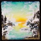Morning light (t.encadré), de l'artiste Andrée-Anne Laberge, Tableau, Encaustique sur bois, Création unique, dimension : 12 x 12 po de largeur