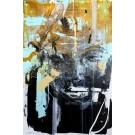 Nectar, de l'artiste Sandy Cunningham, Tableau, Acrylique sur toile, Création unique, dimension : 36 x 24 po de largeur