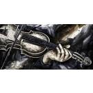 Note de brume, de l'artiste Jean-Simon Bégin, Tableau, Huile sur toile, Création unique, dimension 24 x 48 pouces de largeur