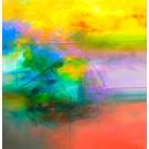 Carte de souhaits 5x5, Perdre pied, de l'artiste Sophie Ouellet, dimension : 5 x 5 pouces largeur, sans texte, avec enveloppe, Vous pouvez inscrire votre message à l'intérieur, Carte vendue à l'unité