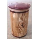 Pot, no 3, de l'artiste Richard Ouellet, pièce originale, faite de pommier coti, érable, amarante, 2 pièces, dimension : variée