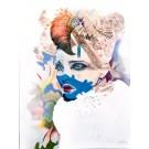 Carte de souhaits 7x5, Neptune, de l'artiste Marie Chantal Le Breton, dimension : 6.5 x 4.75 pouces largeur, sans texte, avec enveloppe  Vous pouvez inscrire votre message à l'intérieur.  Carte vendue à l'unité