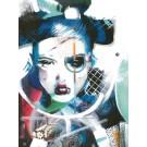 Carte de souhaits 7x5, Prunelle instantanée, de l'artiste Marie Chantal Le Breton, dimension : 6.5x4.75 pouces largeur, sans texte, avec enveloppe  Vous pouvez inscrire votre message à l'intérieur.  Carte vendue à l'unité