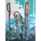 Quenouille, de l'artiste Sandy Cunningham, Tableau, Acrylique, Création unique, dimension : 40 x 30 po de largeur
