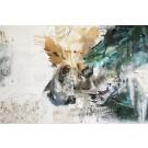 Respect and sunrise, de l'artiste Sandy Cunningham, Tableau, Techniques mixtes sur toile, Création unique, dimension : 48 x 72 po de largeur