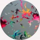 Rétrospective, de l'artiste Marie Chantal Le Breton, Tableau, Acrylique, Création unique, dimension : 35 po, rond