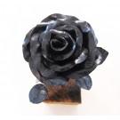 Rose no 10, de l'artiste Denis Lebel, Sculpture, Fer, base en bois, Création unique