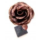 Rose no 6, de l'artiste Denis Lebel, Sculpture, Cuivre, base de métal, Création unique, vue B