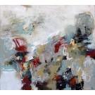 S'inventer autrement (t.encadré), de l'artiste Marie-Claire Plante, Tableau, Techniques mixtes, acrylique, encre, feuille or, pigments secs, fusain, pastel, crayon, Création unique, dimension 36 x 40 pouces de largeur