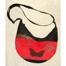 Sac banane, no 26, de l'artiste Cynthia DM, Tissu imperméable Nylon Majestic, doublure intérieure, sérigraphie sur tissu, jeux de coutures décoratives, fermeture éclair YKK (meilleure qualité)