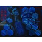 Saïgon '63, de l'artiste Marie Chantal Le Breton, Tableau, Acrylique sur toile, Création unique, dimension : 36 x 48 po de largeur