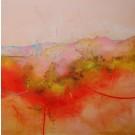 Se perdre dans le lointain (t.encadré), de l'artiste Sophie Ouellet, Tableau, acrylique sur toile cartonnée, Création unique, dimension : 16 x 16 po de largeur