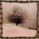 Sérénité, de l'artiste Anik Lachance, Tableau, Techniques mixtes sur bois, Création unique, dimension : 6 x 6 po x 2 po d'épaisseur