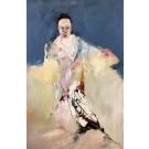 Shogun II, de l'artiste Benoit Genest Rouillier, Tableau, Acrylique sur toile, Création unique, dimension : 60 x 40 po de largeur