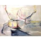 Suspense à l'étage, de l'artiste Benoit Genest Rouillier, Tableau, Acrylique sur toile, Création unique, dimension : 36 x 48 po de largeur