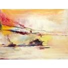 Sylvestre, de l'artiste Benoit Genest Rouillier, Tableau, Acrylique sur toile, Création unique, dimension : 30 x 40 po de largeur