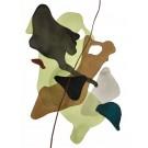 Terre et mer, no 06, de l'artiste Vanessa Sylvain, Oeuvre sur papier, Acrylique, Création unique, dimension : 16 x 12 pouces de largeur