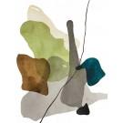 Terre et mer, no 10, de l'artiste Vanessa Sylvain, Oeuvre sur papier, Acrylique, Création unique, dimension : 16 x 12 pouces de largeur