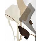 Terre et mer, no 18, de l'artiste Vanessa Sylvain, Oeuvre sur papier, Acrylique, Création unique, dimension : 16 x 12 pouces de largeur