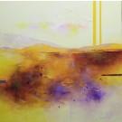 Chérir l'immatériel, de l'artiste Sophie Ouellet, Tableau, acrylique sur toile cartonnée, Création unique, dimension : 12 x 12 po de largeur