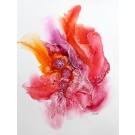 Rêver (o.encadrée), de l'artiste Nancy Létourneau, Oeuvre sur papier Yupo, médium encre à l'alcool et acrylique, Création unique, dimension 20 x 16 de largeur