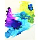 Transposer le désir (o.encadrée), de l'artiste Marie-Pier Sanfaçon, Sur papier Yupo, oeuvre encadrée, techniques mixtes, Création unique, dimension : 14 x 11 po de largeur