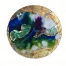 Triplicité, La vallée, de l'artiste Marie-Pier Sanfaçon, Tableau, Techniques mixtes, argile, epoxy, sur bois, Création unique, dimension : 10 po rond sur 1 1/8 d'épaisseur