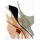 Until we meet, no 3, de l'artiste Vanessa Sylvain, Oeuvre sur papier, Acrylique sur papier, Création unique, dimension : 12 x 9 pouces de largeur