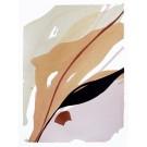 Until we meet, no 4, de l'artiste Vanessa Sylvain, Oeuvre sur papier, Acrylique sur papier, Création unique, dimension : 12 x 9 pouces de largeur