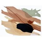 Until we meet, no 7, de l'artiste Vanessa Sylvain, Oeuvre sur papier, Acrylique sur papier, Création unique, dimension : 9 x 12 pouces de largeur
