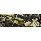 Vent d'automne, de l'artiste Jean-Simon Bégin, Tableau, Huile sur toile, Création unique, dimension 16 x 48 pouces de largeur