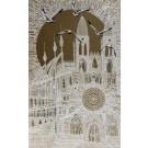 Voyage au temps des cathédrales (t.encadré), de l'artiste Elyse Turbide, Acrylique sur toile, Dimension : 48 po x 30 po de largeur