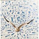 Voyageur IV (t.encadré), de l'artiste Elyse Turbide, Acrylique sur toile, Dimension : 10 x 10 po de largeur