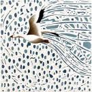 Voyageur V (t.encadré), de l'artiste Elyse Turbide, Acrylique sur toile, Dimension : 10 x 10 po de largeur