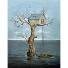 Water World, affiche, de l'artiste Félix Girard, sur papier Hahnemühle Fine Art Photo Rag avec de l'encre à pigment, dimension : 18 x 14 pouces de largeur, affiche prête à être encadrée