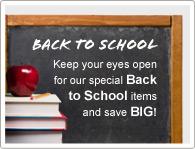 Gardez un oeil sur nos articles de rentrée et économisez un MAX !