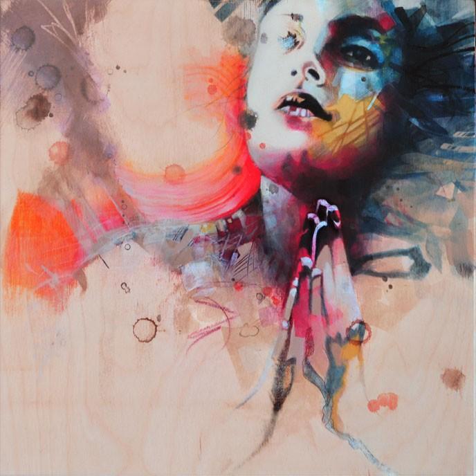 Carte de souhaits 5x5, Insolite sollicitude, de l'artiste Marie Chantal Le Breton, dimension : 5 x 5 pouces largeur, sans texte, avec enveloppe, Vous pouvez inscrire votre message à l'intérieur. Carte vendue à l'unité
