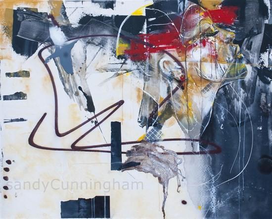 Ce vide, de l'artiste Sandy Cunningham, Tableau, Techniques mixtes, Création unique, dimension : 40 x 50 po de largeur