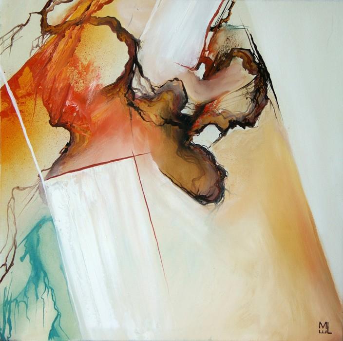 Coeur sauvage (t.encadré), de l'artiste Marie-Eve Lachance, Tableau, Huile, Création unique, dimension 20 x 20 pouces de largeur