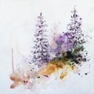 L'appel de la forêt, de l'artiste Anne-Marie Villeneuve, Tableau, Acrylique et fils de coton sur toile, Création unique, dimension : 20 x 20 po de largeur