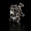 Éclosion V2, de l'artiste Julie Savard, Sculpture, Électro placage, aluminium coulé, dimension : 4.5 x 4 x 4 po, vue A