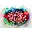 À travers nos peurs (o.encadrée), de l'artiste Nancy Létourneau, Oeuvre sur papier Yupo, médium encre à l'alcool et acrylique, Création unique, dimension 20 po x 26 po de largeur