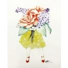 Affiche, Fleuriste Rose Lilas, de l'artiste Katrinn Pelletier, dimension : 10 x 8 po de largeur