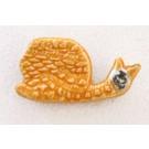 Aimant, # 14, Escargot clémentine, de l'artiste Créations Ratté, medium : céramique, décoration objet cuit à très haute température