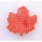 Aimant, # 34, Feuille d'érable rouge, de l'artiste Créations Ratté, medium : céramique, décoration objet cuit à très haute température