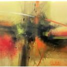 Carte de souhaits 5x5, À la croisée des chemins, de l'artiste Sophie Ouellet, dimension : 5 x 5 pouces largeur, sans texte, avec enveloppe, Vous pouvez inscrire votre message à l'intérieur, Carte vendue à l'unité