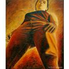 Toi, et les autres, de l'artiste Annie Lévesque, Tableau, acrylique et modeling paste sur toile, dimension : 57.5 x 47 pouces de largeur